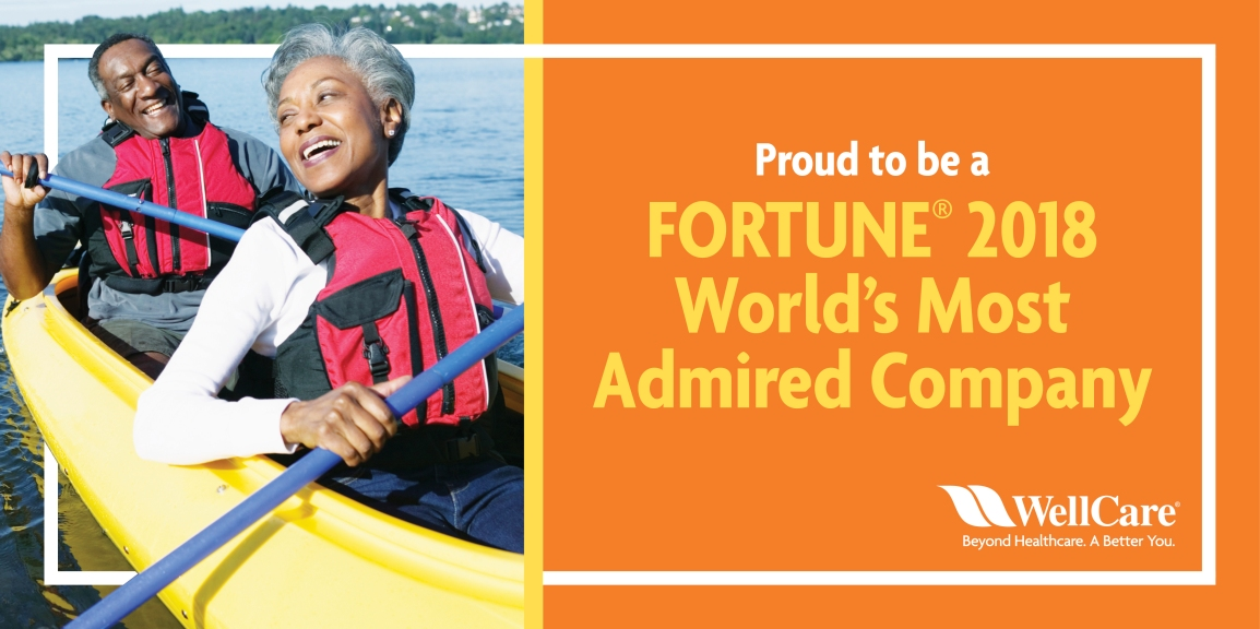 "WellCare Named a ""Most Admired"" Company by Fortune Magazine"