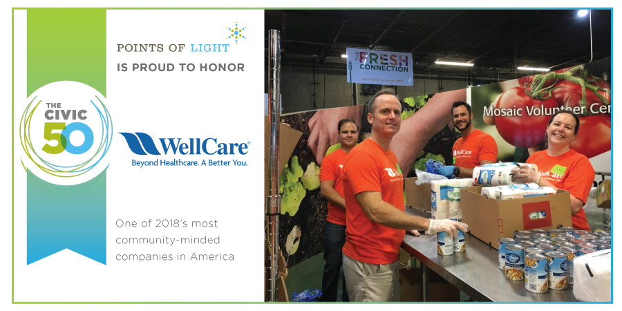 Celebrating WellCare's Recognition from The Civic 50